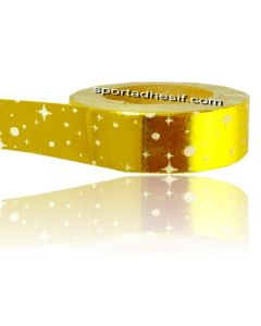 Rouleau papier adhésif WASHI Masking tape 10m Constellation «Or»
