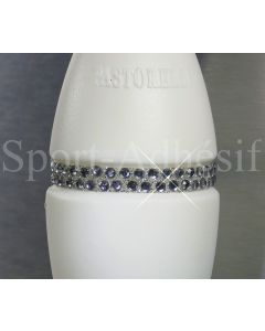 Ruban adhésif 16cm, Sticker Glitter/STRASS 3mm pour 1 massue «Gris Anthracite»