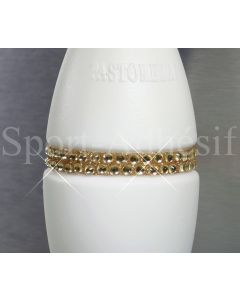 Ruban adhésif 16cm, Sticker Glitter/STRASS 3mm pour 1 massue «OR Topaze»
