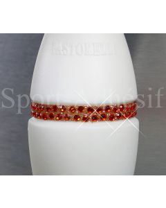 Ruban adhésif 16cm, Sticker Glitter/STRASS 3mm pour 1 massue «Orange Opale»