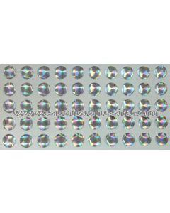 50 Stickers Autocollants RESIN STRASS pour engins «ARGENT Cristal»