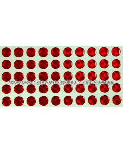 50 Stickers Autocollants RESIN STRASS pour engins «ROUGE Rubis»