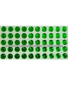 50 Stickers Autocollants RESIN STRASS pour engins «VERT Emeraude»